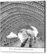 Interior Of St Pancras Railway Station Canvas Print