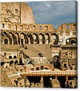 Interior Of The Colosseum, Rome, Italy Canvas Print
