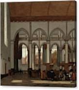 Interior Of The Oude Kerk  Amsterdam  Canvas Print