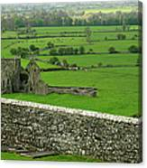 Ireland Country Scape With Castle Ruins Canvas Print