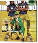 Irish Up 2015 College Football Preview Issue Sports Illustrated Cover Canvas Print