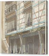 Iron Frame House With Glazed Earthenware  Canvas Print