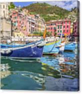 Italian Riviera Old Fashion Fishing Canvas Print