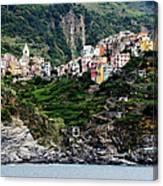Italy, Liguria, Corniglia, View From Canvas Print