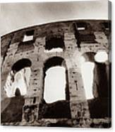 Italy, Rome, The Colosseum, Low Angle Canvas Print