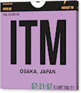 Itm Osaka Luggage Tag I Canvas Print