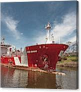 Iver Bright Tanker On The Manistee River Canvas Print