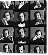 Jack Nicholson Contact Sheet Canvas Print
