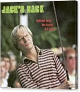 Jack Nicklaus, 1980 Us Open Sports Illustrated Cover Canvas Print