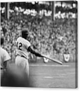 Jackie Robinson At 1955 World Series Canvas Print