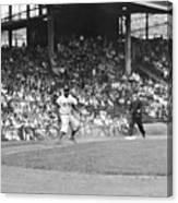 Jackie Robinson At Ebbets Field, 1956 Canvas Print