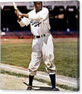 Jackie Robinson Of The Brooklyn Dodgers Canvas Print
