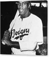 Jackie Robinson Rookie Dodgers Portrait Canvas Print