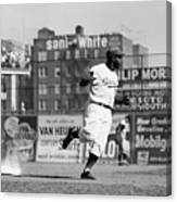 Jackie Robinson Rounds The Bases Canvas Print