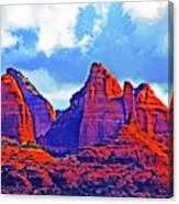 Jack's Canyon Village Of Oak Creek Arizona Sunset Red Rocks Blue Cloudy Sky 3152019 5080  Canvas Print