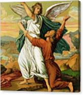 Jacob Wrestiling With The Angel  Canvas Print