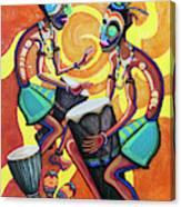 Jammin Djembes Canvas Print