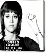 Jane Fonda Mug Shot Canvas Print