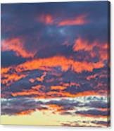 January Sunset - Vertirama 3 Canvas Print