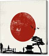 Japan Scenery Poster, Vector Canvas Print