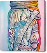 Jar With W/ Map Ami Canvas Print