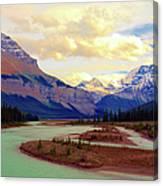 Jasper Rockies Canvas Print