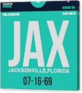 Jax Jacksonville Luggage Tag II Canvas Print