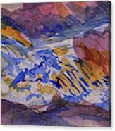 Jay Cooke Favorite Spot In Purple And Tan Canvas Print