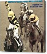 Jean Cruguet, 1977 Belmont Stakes Sports Illustrated Cover Canvas Print