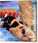 Jeff Float, 1984 Us Olympic Swimming Trials Sports Illustrated Cover Canvas Print