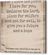 Jeremiah 29 11 Canvas Print