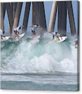 Jeremy Flores Surfing Composite Canvas Print