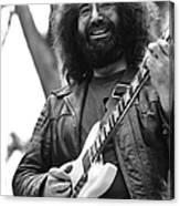Jerry Garcia Performs Live Canvas Print