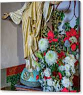 Jesus Christ With Flowers Canvas Print