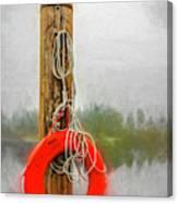 Jim Bouys Pole Canvas Print