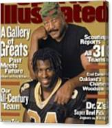 Jim Brown And New Orleans Saints Ricky Williams, 1999 Nfl Sports Illustrated Cover Canvas Print