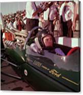 Jim Clark In His Ford Lotus Canvas Print