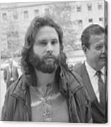 Jim Morrison Walking To Extradition Canvas Print