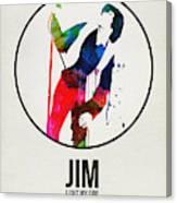 Jim Watercolor Poster Canvas Print