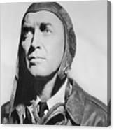 Jimmy Stewart Wearing Aviator Attire Canvas Print