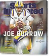 Joe Burrow From Average Joe To No. 1 Pro Sports Illustrated Cover Canvas Print