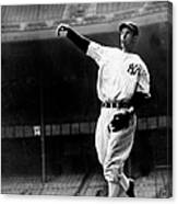 Joe Dimaggio Working Out At Yankee Canvas Print