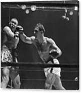 Joe Louis And Rocky Marciano Boxing Canvas Print