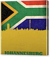 Johannesburg South Africa World City Flag Skyline Canvas Print