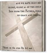 John 1 14 Canvas Print
