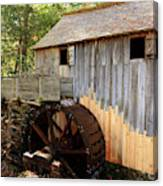 John Cable Mill In Cades Cove Historic Area In Smoky Mountains Canvas Print