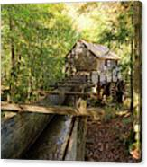 John Cable Mill In Cades Cove Historic Area In The Smoky Mountains Canvas Print