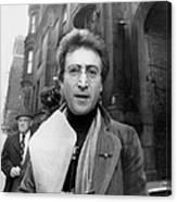 John Lennon Returning From Florist Shop Canvas Print
