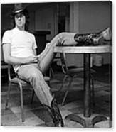 John Travolta, With His Hat And Boots Canvas Print