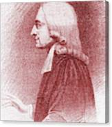 John Wesley, Anglican Minister And Christian Theologian Canvas Print